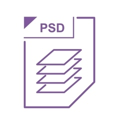 PSD file icon cartoon style vector image vector image