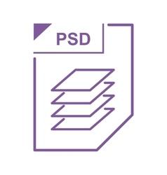 Psd file icon cartoon style vector