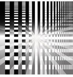 Ray checkerboard theme black and white backgroun vector