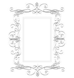 Romantic square frame hand drawn vector image vector image
