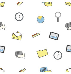 set of business and finance icons seamless vector image vector image