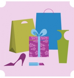 shopping design elements vector image
