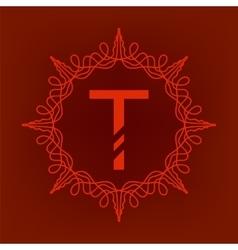 Simple monogram t vector