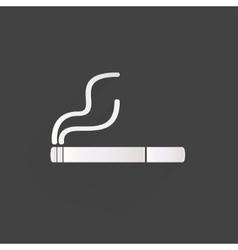 Smoking sign cigarette icon vector image
