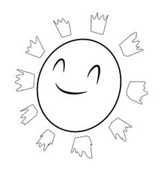 Sun icon isometric 3d style vector