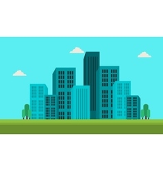 Town skyline landscape of silhouette vector
