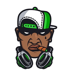 Urban HipHop smoking character vector image