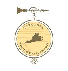 Vintage label virginia vector