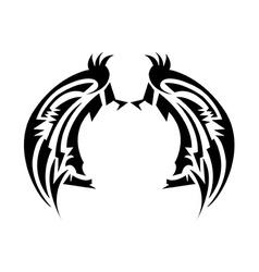 Wings tatoo vector