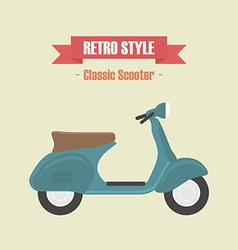 114classic scooter vector image vector image