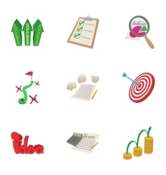 Analytics icons set cartoon style vector image