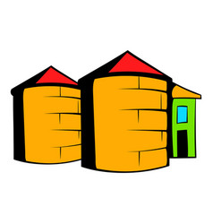 Granaries for storing icon cartoon vector