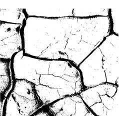Distressed cracked paint overlay texture vector
