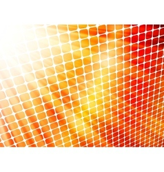 Red yellow rays light 3D mosaic EPS 10 vector image