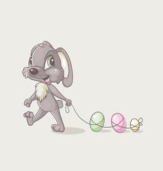 Rabbit with eggs vector