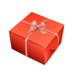 Detailed decorative red giftbox vector image