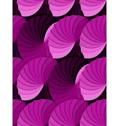 Seamless pink gradient rosettes pattern vector