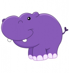baby hippo vector image
