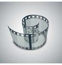 Spiral of film strip vector