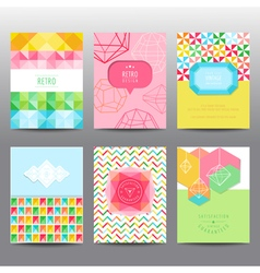 Set of geometric brochures and cards vector