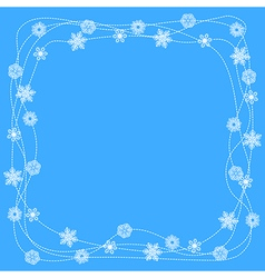 Snow ornament vector