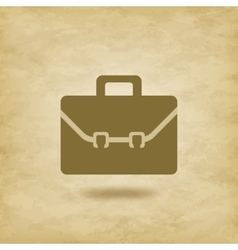 Briefcase icon on grunge background vector image