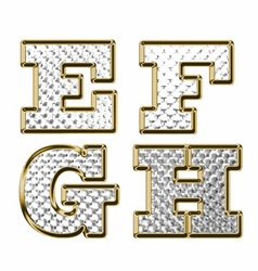 English alphabet gold vector