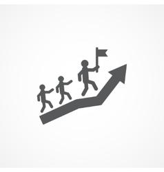 Leadership icon vector