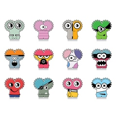 Set of twelve monster vector