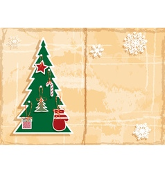 Retro cut out christmas background vector