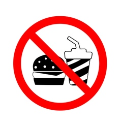 Circle no food and drink sign vector