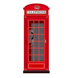 Booth phone in london vector