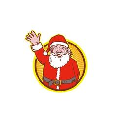 Father christmas santa claus vector