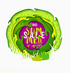 big summer sale paper art vector image vector image