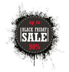 Black friday sale isolated on a white vector