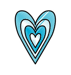 blue heart love happy celebration icon vector image