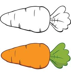 Cartoon carrots vector image vector image