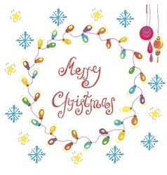Christmas congratulation card vector