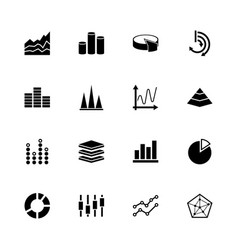 diagram graphs - flat icons vector image