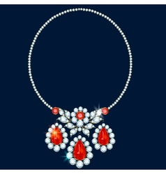 Diamond necklace vector