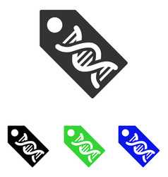 Dna marker flat icon vector