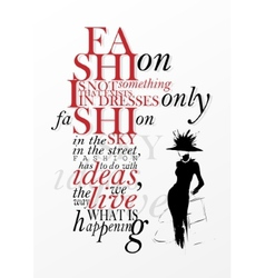 Fashion quote vector image vector image