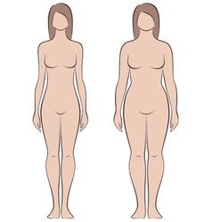 Female figure vector