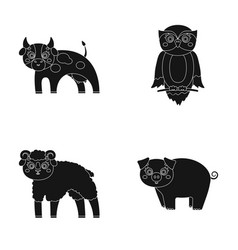 forest ecology toys and other web icon in black vector image vector image
