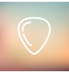 Guitar pick thin line icon vector