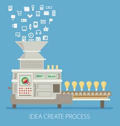 Idea create process of success about money vector