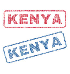 Kenya textile stamps vector
