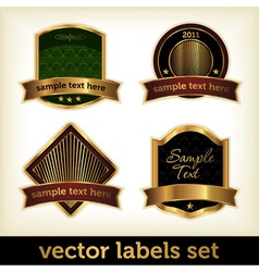 labels set vector image