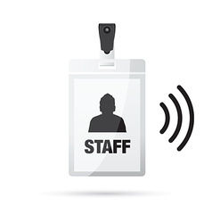 lanyard staff wireless vector image
