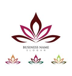 lotus logo template vector image vector image